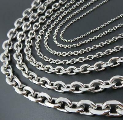 Lot 10pcs Stainless Steel silver 3.5mm cross link chain necklace 24'' in bulk