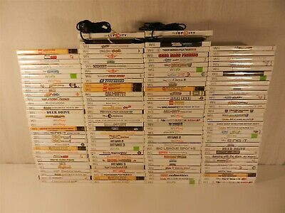 Lot of 130 Nintendo Wii Games - 007 Goldeneye, Boom Blox, Toy Story 3, Wii Fit