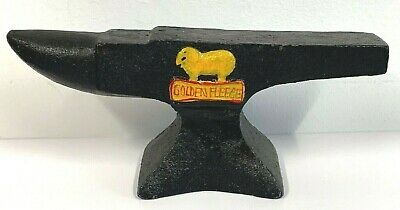 New - Heavy Cast Iron Golden Fleece Anvil Ram Motor Oil Retro Man Cave Pub Bar