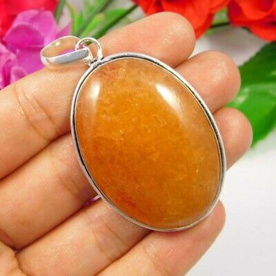 Cherry Quartz .925 Silver Plated Handmade Pendant Jewelry JC3752