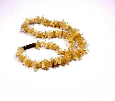 Natural Golden Needle Rutile Rough Uncut Polished Beads Necklace Jewelry JC9933