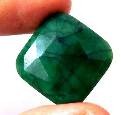 Dyed Faceted Emerald Cut Loose Gemstones 25.3 CT 19X19mm..  AQ686