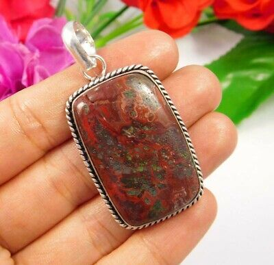 Top Crazy Lace Agate .925 Silver Plated Handmade Pendant Jewelry JC3816