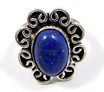 Lapis Lazuli .925 Silver Awesome Ring Jewelry Ring Size 7 JC7924