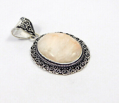 White Agate .925 Silver Plated Carving Pendant Jewelry JC7467