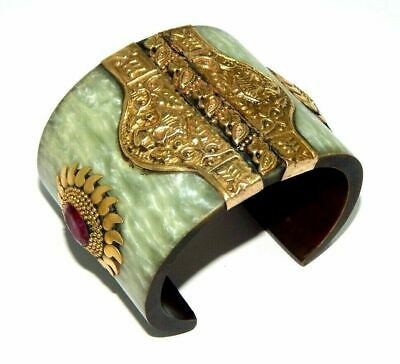 Dyed Ruby Great Designer Tibetan Cuff Fashion Jewelry C11