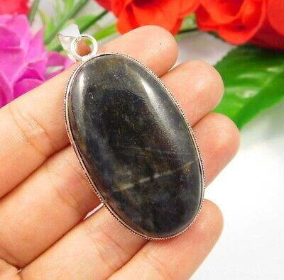 Moss Agate .925 Silver Plated Handmade Pendant Jewelry JC3787