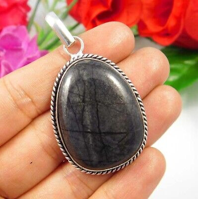Picasso Jasper .925 Silver Plated Handmade Pendant Jewelry JC3792