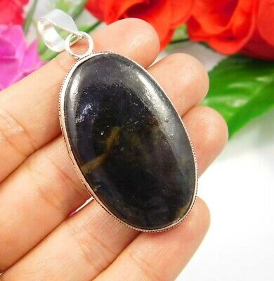 Moss Agate .925 Silver Plated Handmade Pendant Jewelry JC3788