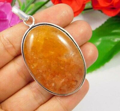 Cherry Quartz .925 Silver Plated Handmade Pendant Jewelry JC3744