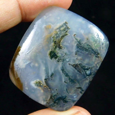 100% Natural Brown Moss Agate Loose Cabochon Loose Gemstone 61CT 37x30mm K294