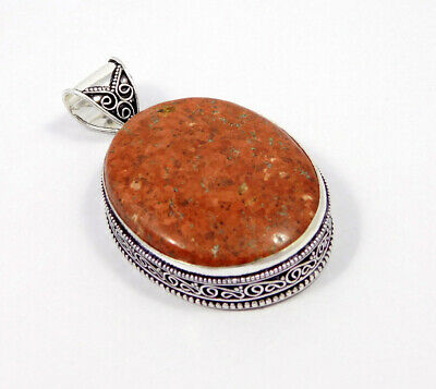Bird Eye Jasper .925 Silver Plated Carving Pendant Jewelry JC7468