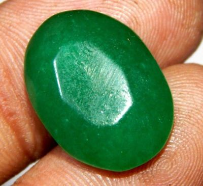 Dyed Faceted Beryl Emerald Wonderful  Loose Gemstone 13 ct 21x14mm F302