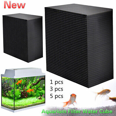 Hot Eco-Aquarium Water Purifier Cubes Fish Tank Activated Carbon Cleaner Filters