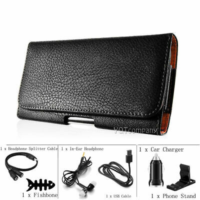 Leather Holster Belt Clip Carrying Case Horizontal Pouch For LG Mobile Phones