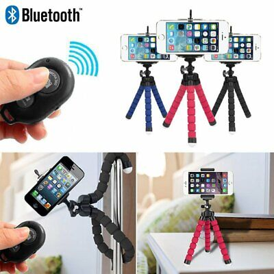 Octopus Holder Stand Mount Tripod Flexible with Remote Control for iPhone Cam US