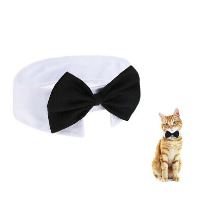 Adjustable Puppy Kitten Dog Cat Pet Bow Tie with Bell Necktie Cotton Cute Collar