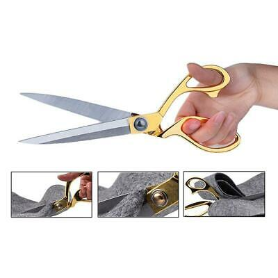 Professional Stainless Steel Blade Zinc Alloy Handle Tailor Sewing Scissors DI