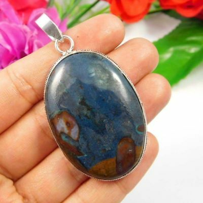 Gorgeous .925 Silver Plated Blue Rock Calcy Designer Pendant Gift JC3806