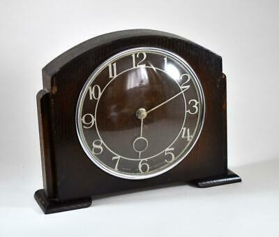 Antique Edwardian Smiths 30 Hour Wind Up Mantle Clock