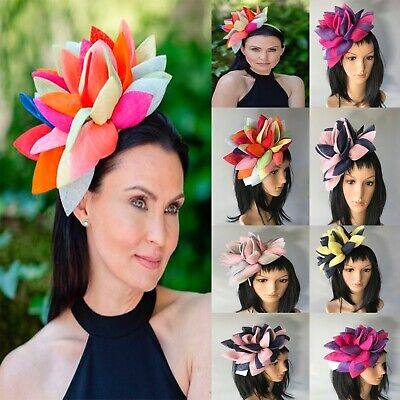 STUNNING BRAND NEW ASSORTED COLORS FASCINATOR ASCOT Wedding Occasion formal Hat