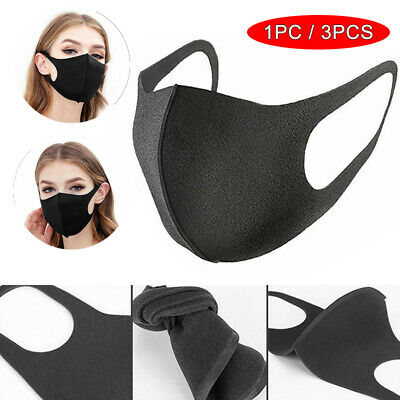 1/3pcs Mouth Mask Washable Breathable Earloop Anti Dust Face Surgical Respirator