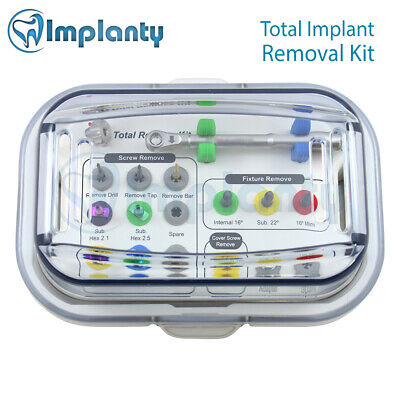Total Implant Removal & Screw Extractor Kit Dental Surgical Instrument Tool