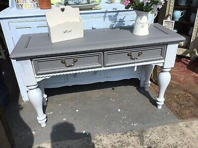 Lovely Painted Solid Pine Long Hall / Console Table