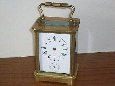 Antique French Brass Alarm Carriage Clock For Restoration