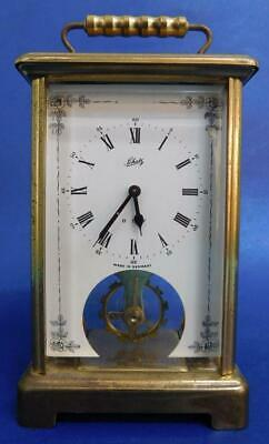 German SCHATZ 8 Day Mantle Clock Classic Carriage Style c1960s