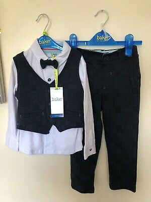 Ted Baker Boy 2-3 Years Set Waistcoat Trousers Top Bnwt Rrp £45
