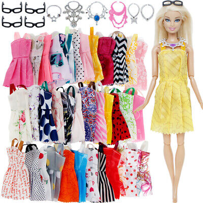Fashion Dress Clothes Barbie Doll Accessories Kids X-mas Girl Toy free shipping