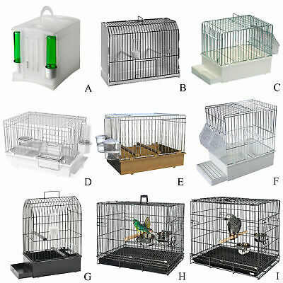 Bird Parrot Travel transport Cage For Finch Canary Budgie Cockatiel African Grey
