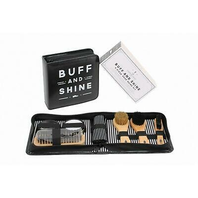 Buff and Shine Shoe Kit Mens 8pc Dapper