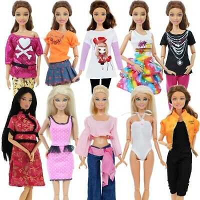 Barbie Doll Fashion Dress Accessories Clothes Girl X-mas Toy Kids free shipping