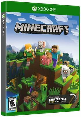 Minecraft Starter Pack Collection [Microsoft Xbox One Mojang 700 Minecoins] NEW