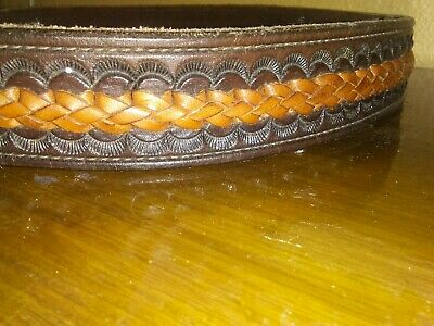 Mens Western Leather 36 Inch Leather Belt