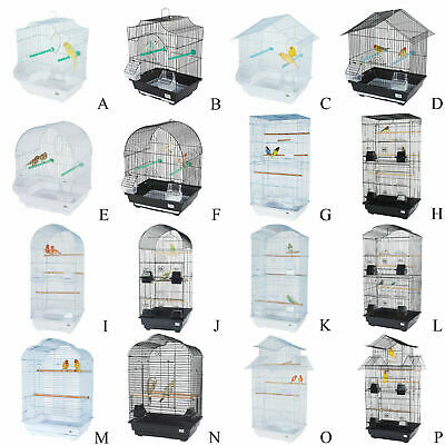 Bird Cage Large Small Metal Finch Canary Budgie Cockatiel Parrot Lovebird