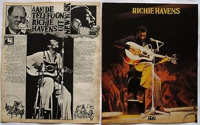 Richie Havens  Muziek Expres  Me Magazine  Rare Clipping Cutting  Pin/Up Poster