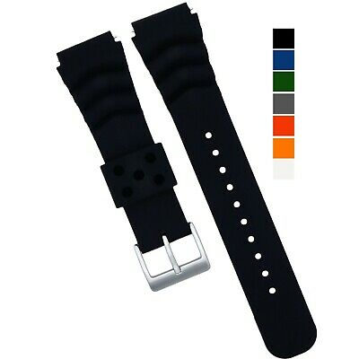 Diver Watch Band Silicone 22MM Made for Seiko SKX007, SKX009, SKX011 Cal.7S26