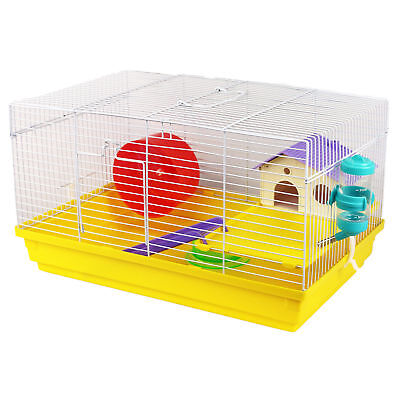Pet Ting Heather Hamster Cage Syrian Mouse Gerbil Mouse Mice Dwarf Wheel Drinker
