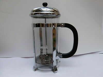 Harrods- Vintage 'La Cafetiere' 8 Cup French Press Cafetiere Coffee Maker-Chrome