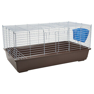 Rabbit Guinea Pig Cage 100cm Clover Coffee Large Hutch small Animal Bunny Home
