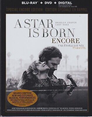 A STAR IS BORN ENCORE BLURAY & DVD & DIGITAL SET with Lady Gaga & Bradley Cooper