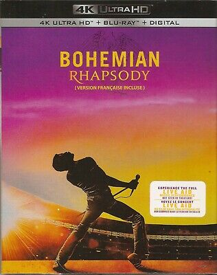 BOHEMIAN RHAPSODY 4K ULTRA HD & BLURAY & DIGITAL SET with Rami Malek &Mike Myers