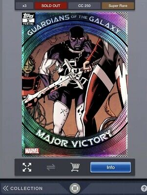 Topps Marvel Collect Guardians Printing Super Rare 1st Printing Major Victory