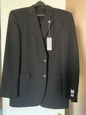 NWT Stafford 100% Superfine Wool Black Men's Suit Jacket