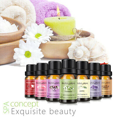 Aromatherapy Essential Oils 100% Natural Pure Essential Oil Fragrances 10ml J