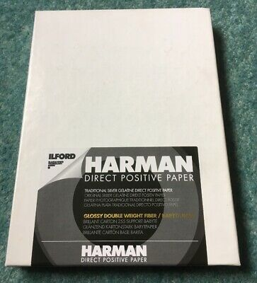 Harman Direct Positive Paper FB Glossy 5x7 25 sheets - Black And White Ilford