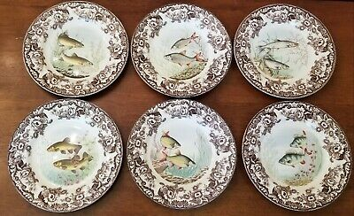 Spode WOODLAND STREAM Set of 6 Dinner Plates